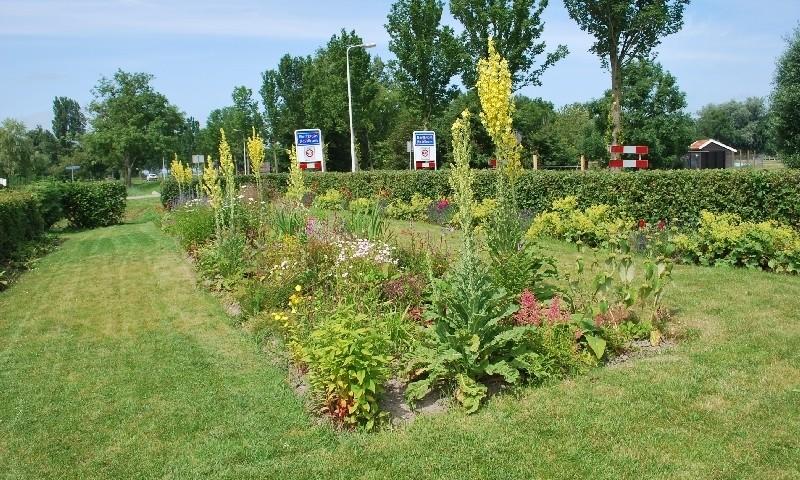 Een mooie zichtlijn van de tuin van de dorpsstyliste